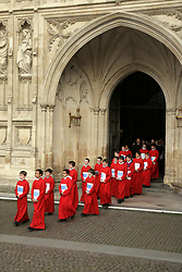 Choirboys; Westminster Abbey; London UK