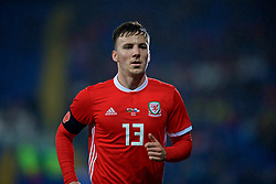 CARDIFF, WALES - Tuesday, November 14, 2017: Wales' Lee Evans during the international friendly match between Wales and Panama at the Cardiff City Stadium. (Pic by David Rawcliffe/Propaganda)