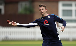 England's Jos Butler during the nets session at Lord's, London.