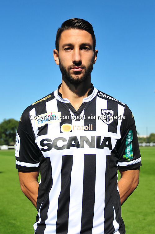 Yoann Andreu - 29.09.2015 - Photo officielle - Angers - Ligue 1<br /> Photo : Philippe Le Brech / Icon Sport