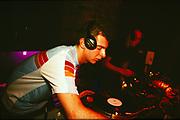 Layo dj'ing at Bugged Out, UK, 1990's