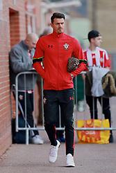 SOUTHAMPTON, ENGLAND - Saturday, November 19, 2016: Southampton's captain Jose Fonte arrives ahead of the FA Premier League match against Everton at St. Mary's Stadium. (Pic by David Rawcliffe/Propaganda)
