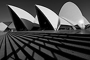 Sydney Opera House in monochrome