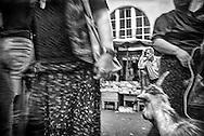 Outdoor Market in Zugdidi, which borders Abkhazia. Zugdidi, 2004.