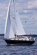 Meteor sailing in the Corinthian Classic Yacht Regatta.
