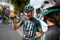 Lizzy Banks (GBR) rehydrates after at Boels Ladies Tour 2019 - Stage 5, a 154.8 km road race from Nijmegen to Arnhem, Netherlands on September 8, 2019. Photo by Sean Robinson/velofocus.com