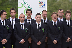 Branko Ilic, Bostjan Cesar, Miso Brecko, Mirnes Sisic, Robert Koren, Dejan Kelhar, Zlatko Dedic, Suad Filekovic and Valter Birsa at official presentation of Slovenian National Football team for World Cup 2010 South Africa, on May 21, 2010 in Congress Center Brdo at Kranj, Slovenia. (Photo by Vid Ponikvar / Sportida)
