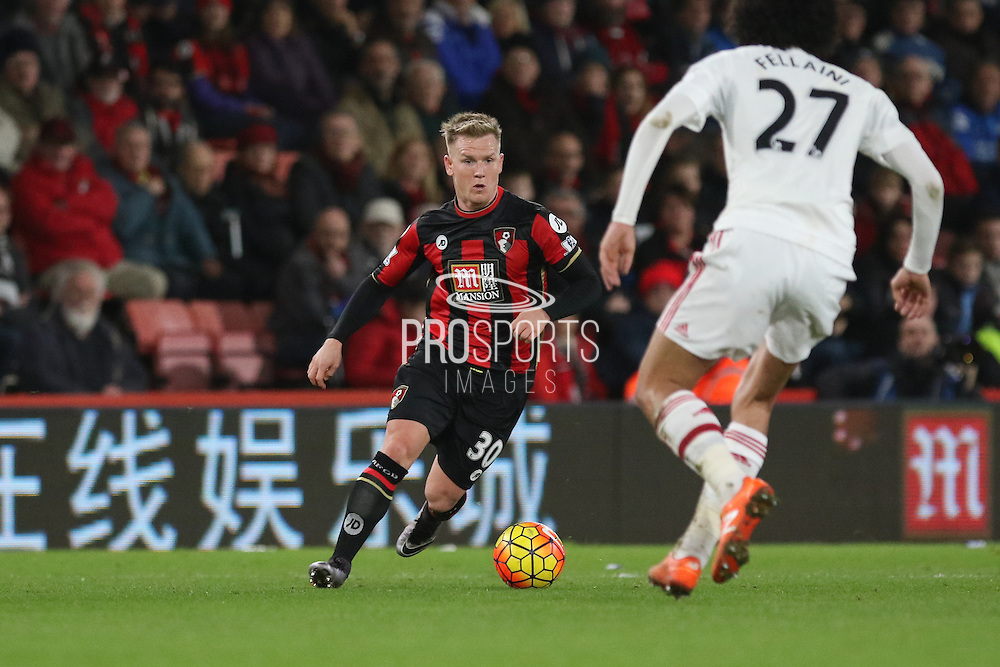 Matt Ritchie of Bournemouth during the Barclays Premier League match between Bournemouth and Manchester United at the Goldsands Stadium, Bournemouth, England on 12 December 2015. Photo by Phil Duncan.