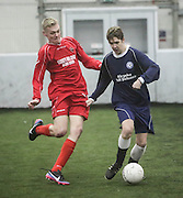 Hawkhill Tavern B (red) v Caird Park A - Dundee Saturday Morning FA Wintertoto 5 a sides at Soccerworld<br /> <br />  - &copy; David Young - www.davidyoungphoto.co.uk - email: davidyoungphoto@gmail.com