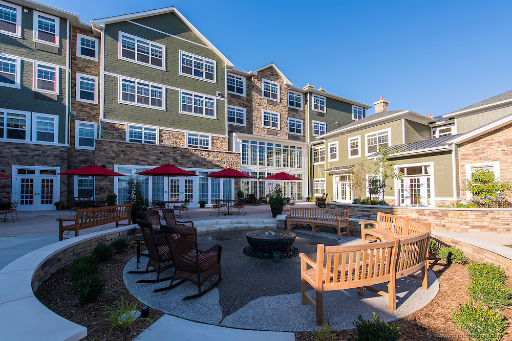 Exterior Image of Senior Living Apartments Brightview at Great Falls by Jeffrey Sauers of Commercial Photographics, Architectural Photo Artistry in Washington DC, Virginia to Florida and PA to New England