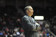"Ole Miss vs. Texas A&M Aggies head coach Billy Kennedy at the C.M. ""Tad"" Smith Coliseum in Oxford, Miss. on Wednesday, February 4, 2015. Mississippi won 69-59. (AP Photo/Oxford Eagle, Bruce Newman)"