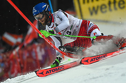 "29.01.2019, Planai, Schladming, AUT, FIS Weltcup Ski Alpin, Slalom, Herren, 1. Lauf, im Bild Marco Schwarz (AUT) // Marco Schwarz of Austria in action during his 1st run of men's Slalom ""the Nightrace"" of FIS ski alpine world cup at the Planai in Schladming, Austria on 2019/01/29. EXPA Pictures © 2019, PhotoCredit: EXPA/ Erich Spiess"