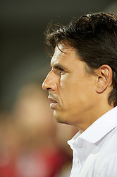 NOVI SAD, SERBIA - Tuesday, September 11, 2012: Wales' manager Chris Coleman before the 2014 FIFA World Cup Brazil Qualifying Group A match against Serbia at the Karadorde Stadium. (Pic by David Rawcliffe/Propaganda)
