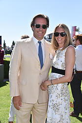 Jonathan & Flora Goodwin at the Qatar Goodwood Festival - Glorious Goodwood, Goodwood Racecourse, West Sussex 02 August 2018.