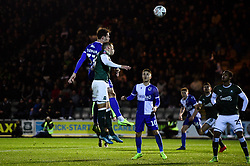 Alex Rodman of Bristol Rovers scores his sides first goal of the game - Mandatory by-line: Ryan Hiscott/JMP - 17/12/2019 - FOOTBALL - Home Park - Plymouth, England - Plymouth Argyle v Bristol Rovers - Emirates FA Cup second round replay