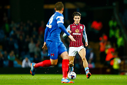 Jack Grealish of Aston Villa in action - Photo mandatory by-line: Rogan Thomson/JMP - 07966 386802 - 27/08/2014 - SPORT - FOOTBALL - Villa Park, Birmingham - Aston Villa v Leyton Orient - Capital One Cup Round 2.