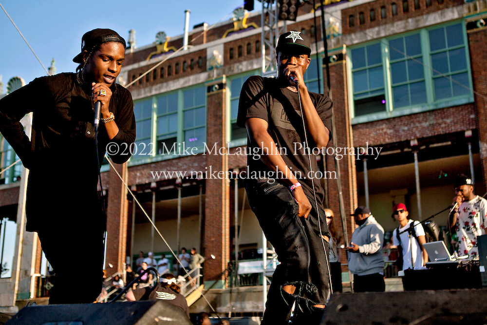Saturday, May 19, 2012. Asbury Park, New Jersey. A$AP Rocky performs on the Beach Party Stage during the 2012 Bamboozle festival in Asbury Park, New Jersey.<br />