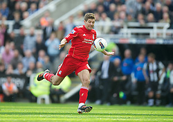 NEWCASTLE-UPON-TYNE, ENGLAND - Sunday, April 1, 2012: Liverpool's captain Steven Gerrard in action against Newcastle United during the Premiership match at St James' Park. (Pic by David Rawcliffe/Propaganda)