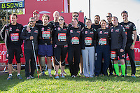 The Walking Wounded team in the celebrity area ahead of the Gren Start at The Virgin Money London Marathon 2014 on Sundy 13 April 2014<br /> Photo: Neil Turner/Virgin Money London Marathon<br /> media@london-marathon.co.uk