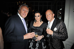 Left to right, HAROLD TILLMAN, NANCY DELL'OLIO and ROBERT NEWMARK at a party to celebrate the publication of her new book - Kelly Hoppen: Ideas, held at Beach Blanket Babylon, 45 Ledbury Road, London W11 on 4th April 2011.