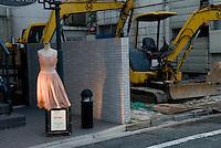A dress displayed outside a shop in Naka-Meguro, Tokyo, Japan.