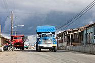 Trucks in Bahia Honda, Artemisa, Cuba.