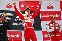 MOTORSPORT - F1 2013 - GRAND PRIX OF SPAIN / GRAND PRIX D'ESPAGNE - BARCELONA (ESP) - 10 TO 12/05/2013 - PHOTO : JEAN MICHEL LE MEUR / DPPI - ALONSO FERNANDO (SPA) - FERRARI F138 - AMBIANCE PORTRAIT / PODIUM