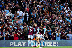 Aston Villa fans celebrate Wesley of Aston Villa scoring a goal to make it 1-0 - Mandatory by-line: Robbie Stephenson/JMP - 23/08/2019 - FOOTBALL - Villa Park - Birmingham, England - Aston Villa v Everton - Premier League