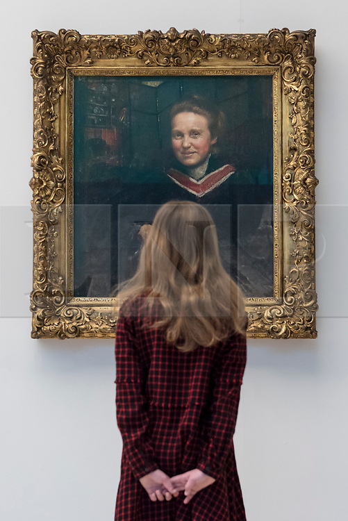 © Licensed to London News Pictures. 02/02/2018. LONDON, UK.  A portrait of Millicent Fawcett, by Annie Swynnerton, goes on display at Tate Britain to mark the centenary of the women's right to vote, as embodied in the Representation of the People Act.  Millicent Fawcett was a leading figure in the suffragist movement, campaigning for the right for women to vote in the UK, while Annie Swynnerton was one of the first women elected to be a member of the Royal Academy of Arts.  Photo credit: Stephen Chung/LNP