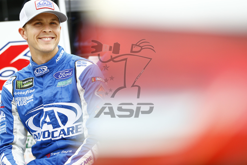 June 16, 2017 - Brooklyn, MI, USA: Trevor Bayne (6) hang out on pit road before qualifying for the FireKeepers Casino 400 at Michigan International Speedway in Brooklyn, MI.
