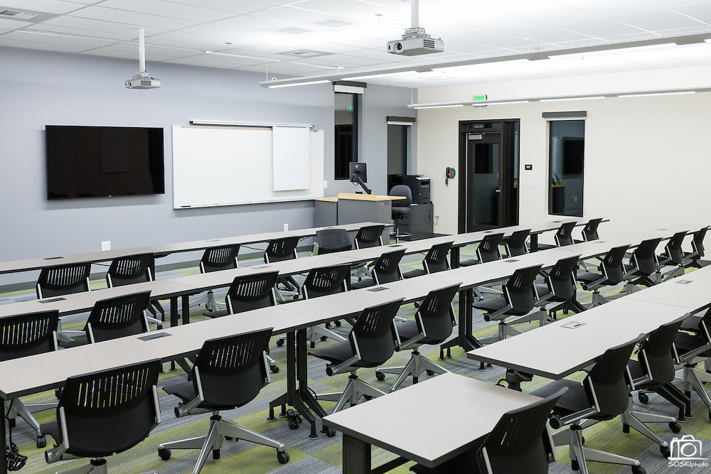 The Milpitas Unified School District and San Jose Evergreen Community College District Community College Extension opens for classes in Milpitas, California, on January 30, 2017. (Stan Olszewski/SOSKIphoto)