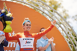 Race leader, Letizia Paternoster (ITA) at Santos Women's Tour Down Under 2019 - Stage 1, a 112.9 km road race from Hahndorf to Birdwood, Australia on January 10, 2019. Photo by Sean Robinson/velofocus.com