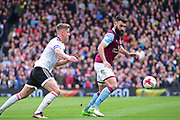 Aston Villa midfielder Mile Jedinak (25) in action during the EFL Sky Bet Championship match between Fulham and Aston Villa at Craven Cottage, London, England on 17 April 2017. Photo by Jon Bromley.
