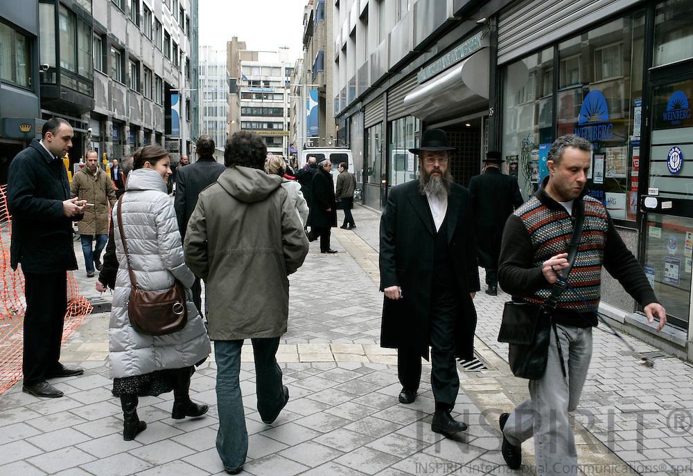 ANTWERP - BELGIUM - 19 MARCH 2007 --Diamond dealers of all nationalities are represented in the Diamond Beurs in Antwerpen, but the Jewish dealers dominate the market..   PHOTO: ERIK LUNTANG