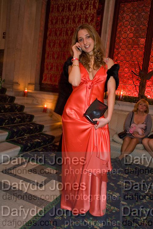 SUSANNAH MAROSSENI, Francesca Bortolotto Possati, Alessandro and Olimpia host Carnevale 2009. Venetian Red Passion. Palazzo Mocenigo. Venice. February 14 2009.  *** Local Caption *** -DO NOT ARCHIVE -Copyright Photograph by Dafydd Jones. 248 Clapham Rd. London SW9 0PZ. Tel 0207 820 0771. www.dafjones.com<br /> SUSANNAH MAROSSENI, Francesca Bortolotto Possati, Alessandro and Olimpia host Carnevale 2009. Venetian Red Passion. Palazzo Mocenigo. Venice. February 14 2009.