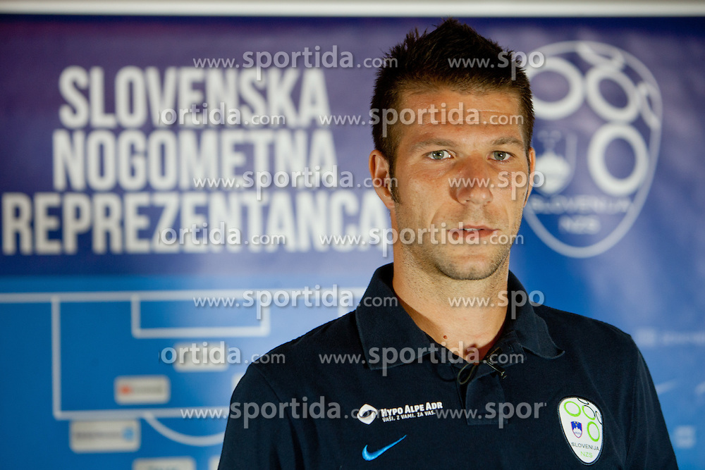 Bostjan Cesar, A.C. Chievo Verona, at team gathering before friendly football match between National teams of Slovenia and Romania, on August 11, 2012 in Congress Center Brdo, Kranj, Slovenia. (Photo by Matic Klansek Velej / Sportida.com)