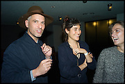 OLIVER CHANARIN; AMALIA PIKA; RENA S, Frieze party, ACE hotel Shoreditch. London. 18 October 2014