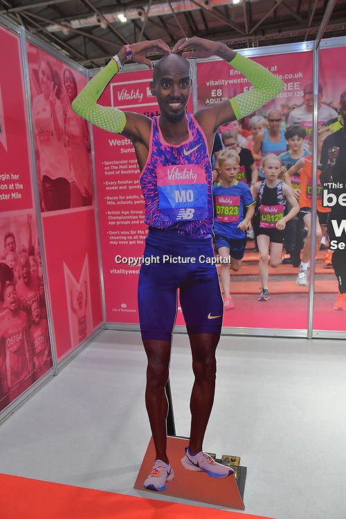 London Marathon Exhibition 2019 - ExCeL London on 26 April 2019, London, UK.