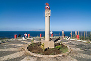Soldiers' commemorative with view to sea. San Felipe. Vulcano Fogo. Fogo. Cabo Verde. Africa.
