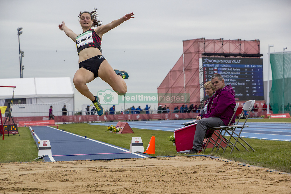 October 11, 2018 - Buenos Aires, Argentina - 16 year old BEERNAERT MAITE of Belgium debuted this afternoon at the Olympic Youth Games in the discipline of Women's long Jump, Stage 1, remaining in the position number 4. (Credit Image: ©  Roberto Almeida Aveledo/ZUMA Wire)