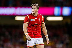 Wales Winger Hallam Amos looks on - Mandatory byline: Rogan Thomson/JMP - 07966 386802 - 20/09/2015 - RUGBY UNION - Millennium Stadium - Cardiff, Wales - Wales v Uruguay - Rugby World Cup 2015 Pool A.