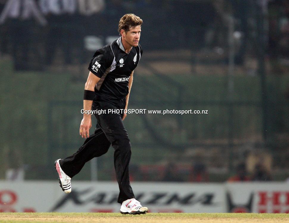 Jacob Oram. ICC Cricket World Cup. New Zealand vs Paksitan. Pallekele Cricket Stadium, Kandy, Sri Lanka. Tuesday 8 March 2011. Photo: photosport.co.nz