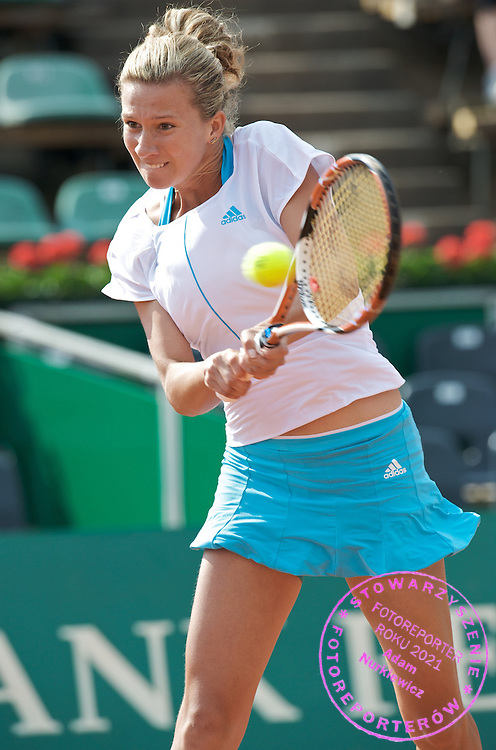 MARTA DOMACHOWSKA (POLAND), DURING WOMEN'S EXHIBITION TENNIS TOURNAMENT SUZUKI WARSAW MASTERS ON WARSZAWIANKA COURTS..WARSAW , POLAND , APRIL 30, 2008.( PHOTO BY ADAM NURKIEWICZ / MEDIASPORT )..PICTURE ALSO AVAIBLE IN RAW OR TIFF FORMAT ON SPECIAL REQUEST.