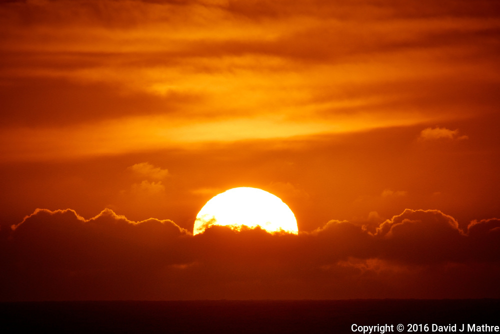 Sunrise Breakfast Club. Sun Rising Over the Clouds. Image taken with a Nikon 1 V3 camera and 70-300 mm VR lens