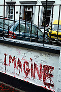 "London | April 7, 2010 | Thousands visit Abbey Road Studios in northwest London every year and leave a note at the outside walls of the venue. One reads ""imagine"" and is painted to the wall in big red letters 
