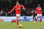 Keshi Anderson (30) of Swindon Town on the attack during the EFL Sky Bet League 2 match between Swindon Town and Port Vale at the County Ground, Swindon, England on 17 February 2018. Picture by Graham Hunt.