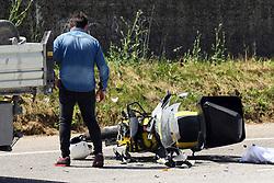 LA DISPERAZIONE DI RENZO BECCARI DIRETTORE UFFICIO POSTALE COMACCHIO<br /> INCIDENTE MORTALE MORTALE POSTINO NICOLA BENETTI COMACCHIO