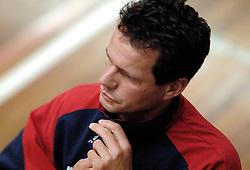 18-03-2006 VOLLEYBAL: PLAY OFF HALVE FINALE: PIET ZOOMERS D - HVA AMSTERDAM: APELDOORN<br /> Piet Zoomers wint de eerste van de vijf wedstrijden vrij eenvoudig met 3-0 / Gido Vermeulen<br /> Copyrights2006-WWW.FOTOHOOGENDOORN.NL