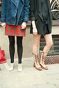 DAISY DE VILLENEUVE; JADE WILLIAMS; , Design Your Own Timberland breakfast and Autumn/ Winter 2011 preview. Timberland. 1 Fournier St. London. Followed by an art tour by Julia Royce. 8 June 2011. <br /> <br />  , -DO NOT ARCHIVE-© Copyright Photograph by Dafydd Jones. 248 Clapham Rd. London SW9 0PZ. Tel 0207 820 0771. www.dafjones.com.