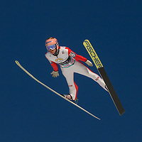 Raw Air photo from Vikersund Ski Flying Hill. Raw Air is a ten day ski jumping and ski flying tournament and is part of the World Cup competition.